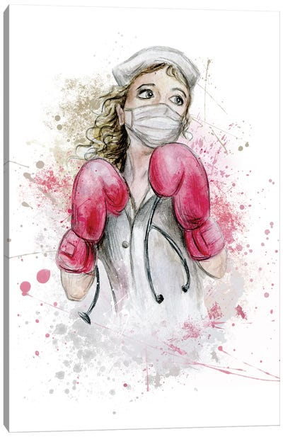 Fighting Nurse I Canvas Art Print