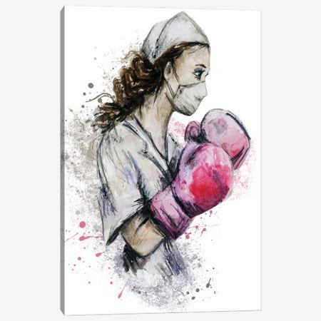 Fighting Nurse II Canvas Print #EPG81} by Ephrazy Graphics Art Print