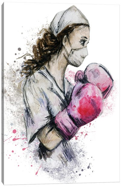Fighting Nurse II Canvas Art Print