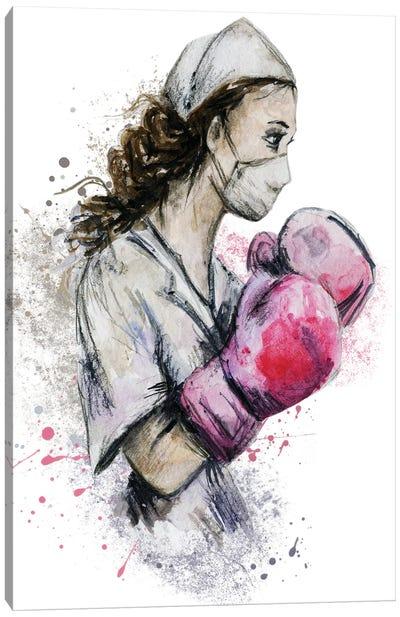Fighting Nurse II Canvas Art Print