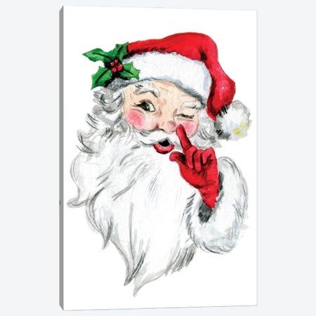 Santa Head Canvas Print #EPG87} by Ephrazy Graphics Canvas Artwork