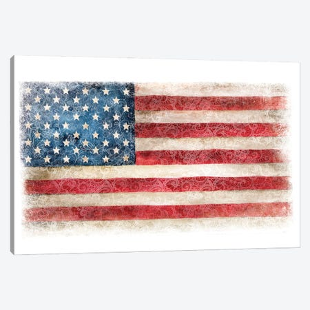 USA Flag Lace Canvas Print #EPG8} by Ephrazy Graphics Canvas Art
