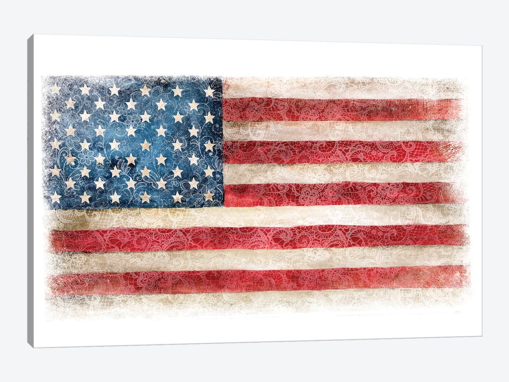 USA Flag Lace by Ephrazy Graphics 1-piece Art Print