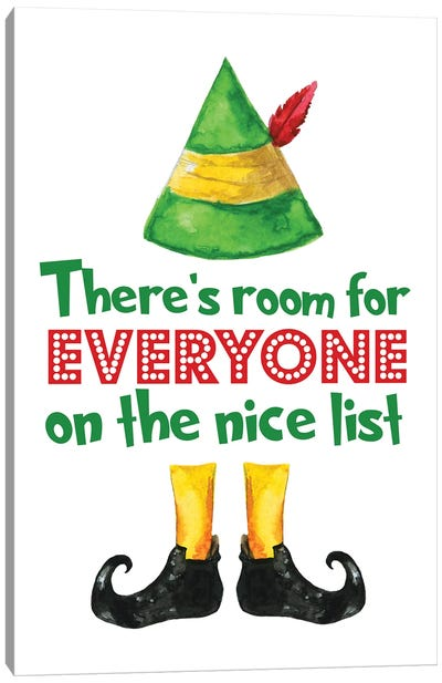 Elf. There's Room For Everyone Canvas Art Print