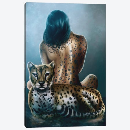 Feral 3-Piece Canvas #EPP13} by Alvin Epps Canvas Art Print