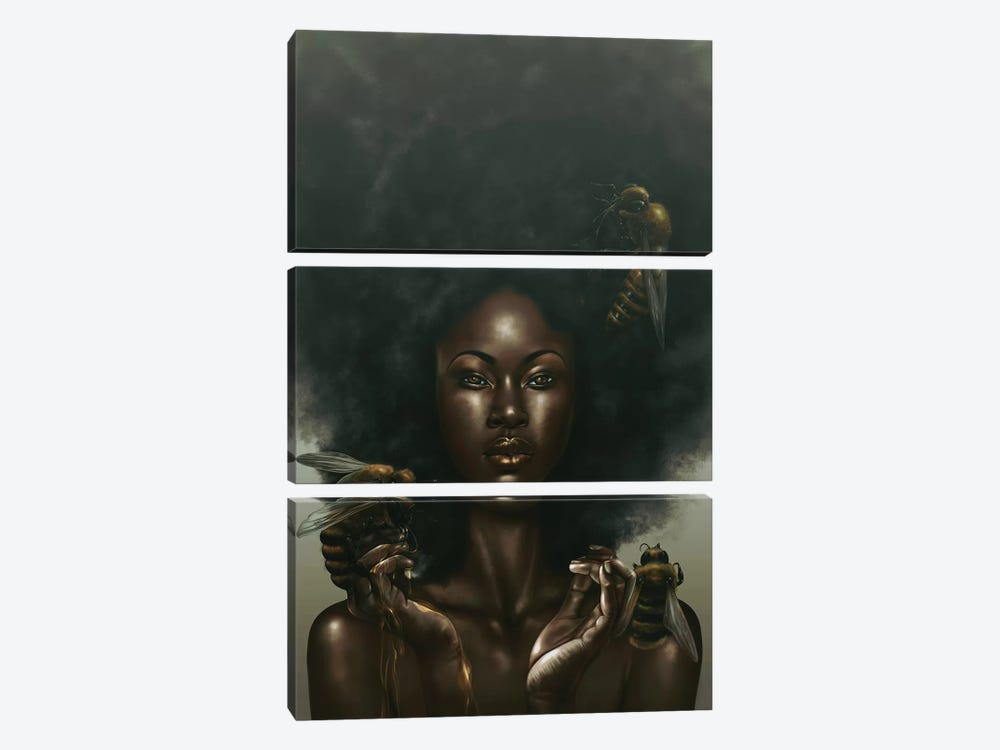 Honeycomb by Alvin Epps 3-piece Canvas Print