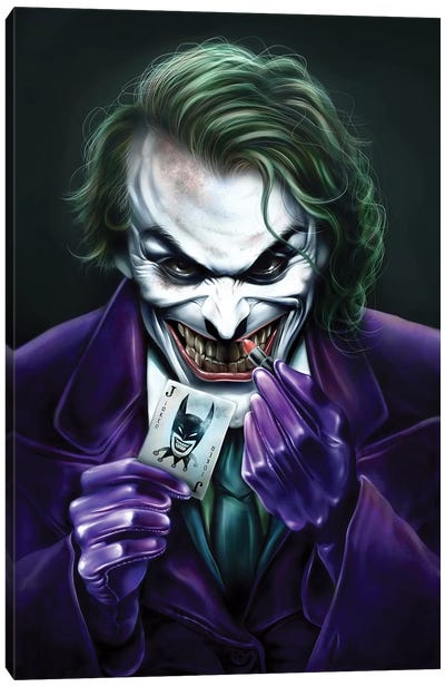 Joker Canvas Art Print