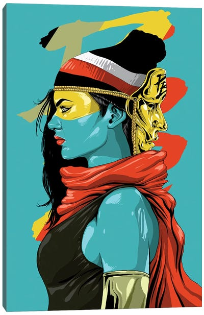 Mask Of Gold Canvas Art Print