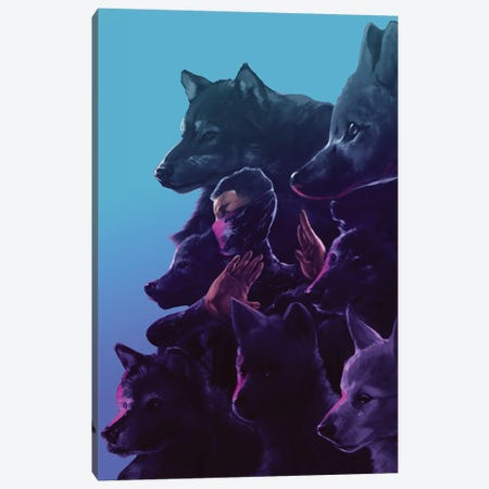 Wolfpack Canvas Print #EPP29} by Alvin Epps Canvas Wall Art