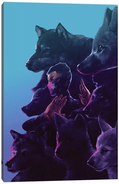 Wolfpack Canvas Art Print