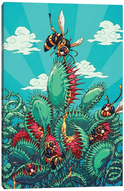 Flytrap Canvas Art Print