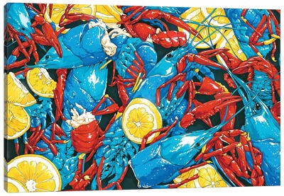 Crawfish Cuisine Canvas Art Print