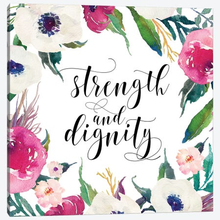 Strength And Dignity, Proverbs 31:25 Canvas Print #EPT114} by Eden Printables Art Print