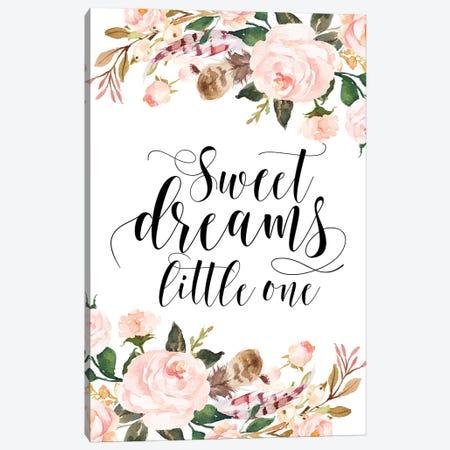 Sweet Dreams Little One Canvas Print #EPT115} by Eden Printables Canvas Art Print