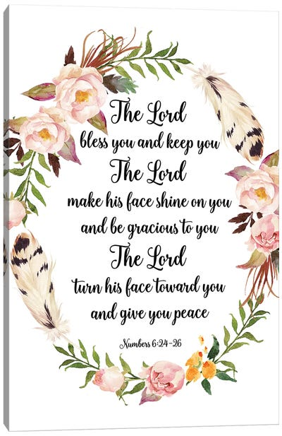 The Lord Bless You And Keep You, Numbers 6:24-26 Canvas Art Print