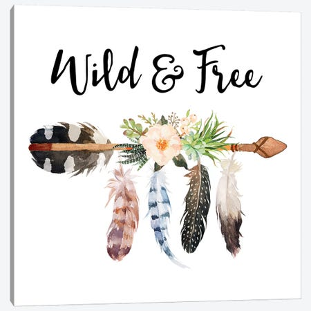 Wild & Free Canvas Print #EPT128} by Eden Printables Canvas Print