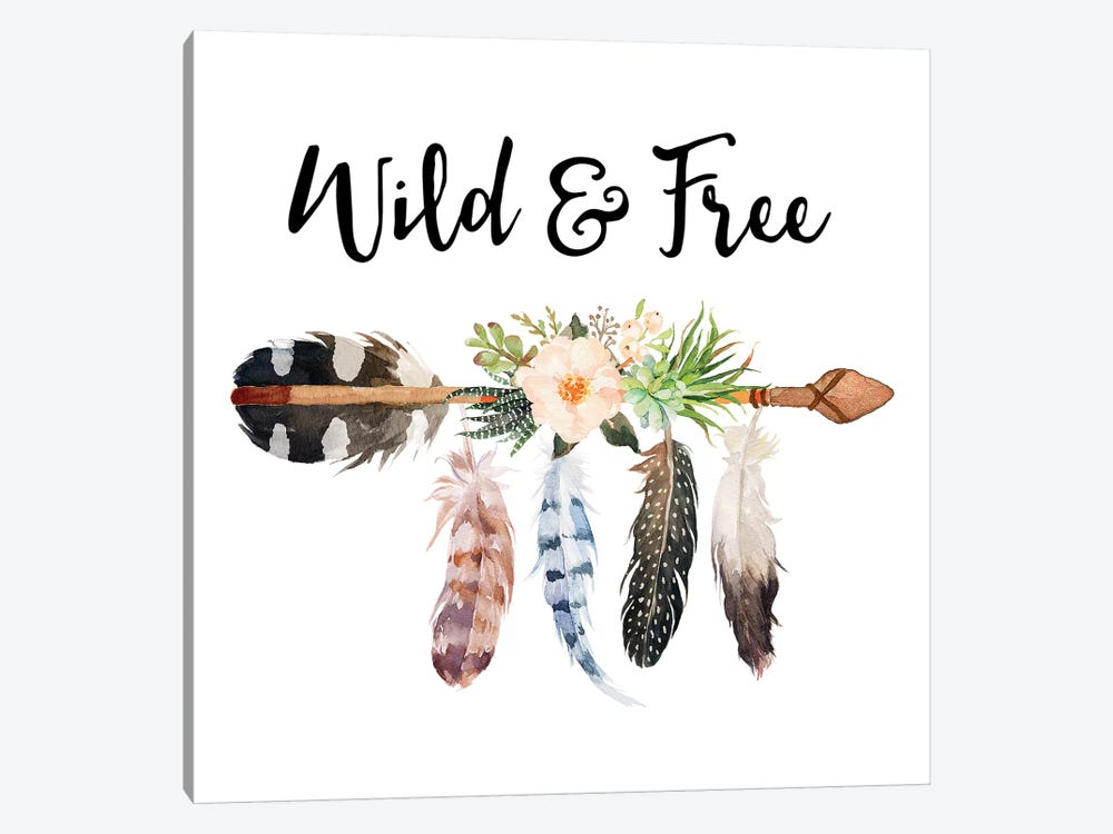 Wild & Free by Eden Printables 1-piece Canvas Art