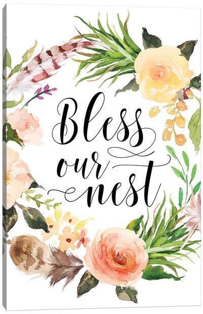 Bless Our Nest Canvas Art Print