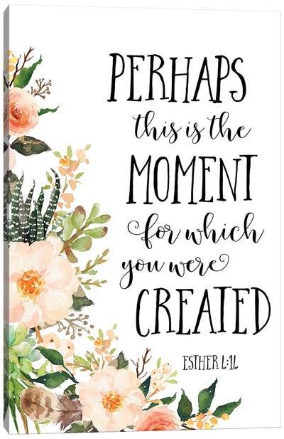 Esther 4:14 Canvas Art Print