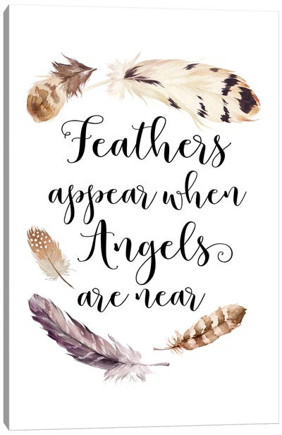 Feathers Appear When Angels Are Near Canvas Art Print
