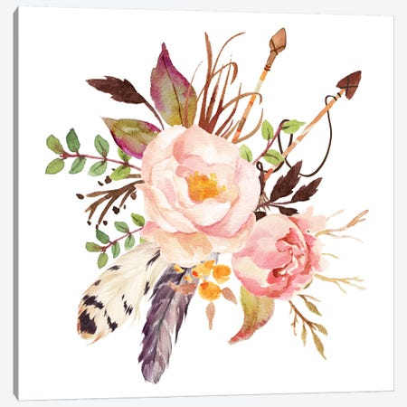 Floral Canvas Print #EPT36} by Eden Printables Canvas Art