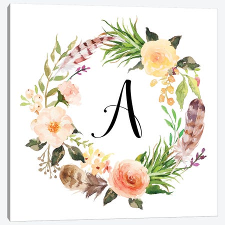 A (Initial) Canvas Print #EPT3} by Eden Printables Canvas Wall Art