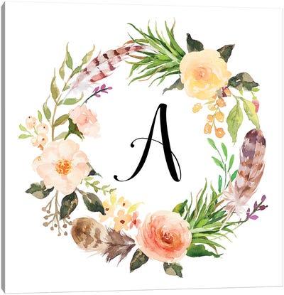 A (Initial) Canvas Art Print