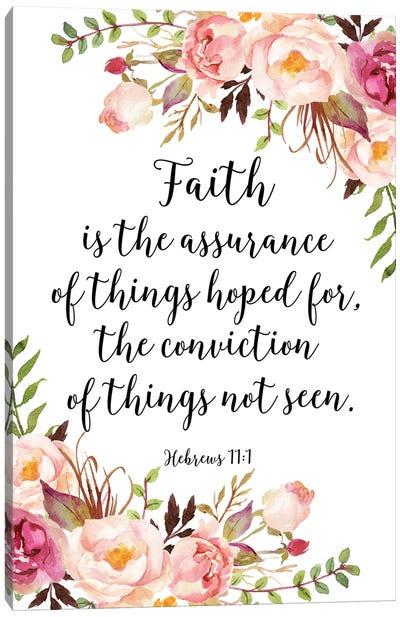 Hebrews 11:1 Canvas Art Print