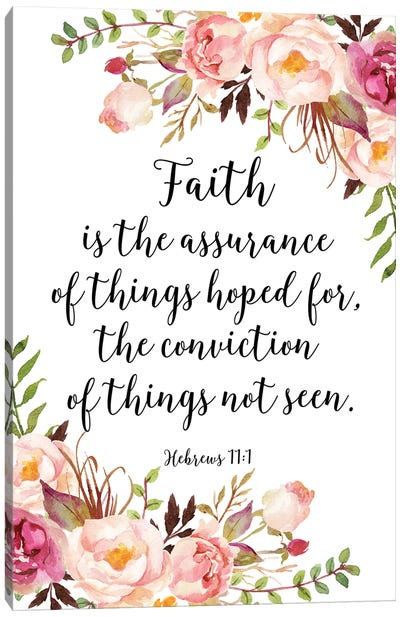 Hebrews 11:1 Canvas Art Print