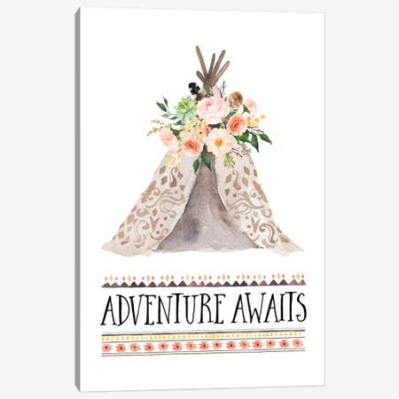 Adventure Awaits Canvas Print #EPT4} by Eden Printables Canvas Print