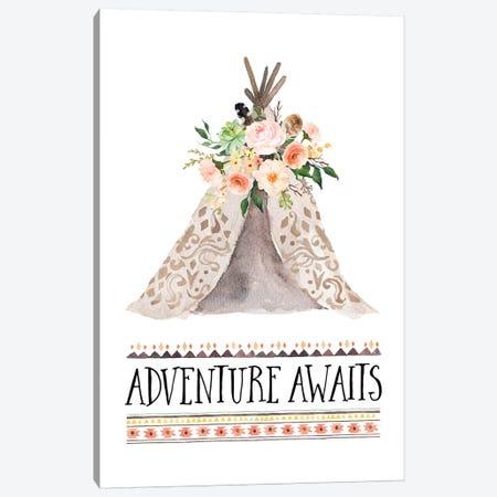 Adventure Awaits Canvas Print #EPT4} by Eden Printables Canvas Print