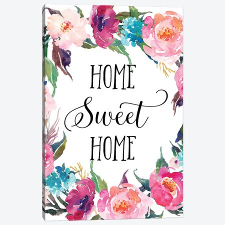 Home Sweet Home Canvas Print #EPT52} by Eden Printables Canvas Art Print