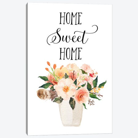 Home Sweet Home II Canvas Print #EPT53} by Eden Printables Canvas Print