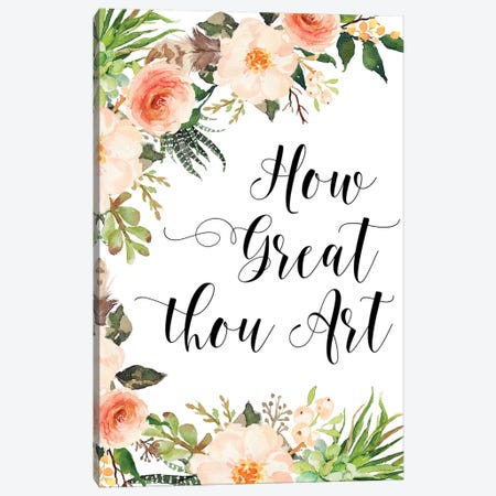 How Great Thou Art Canvas Print #EPT55} by Eden Printables Canvas Wall Art