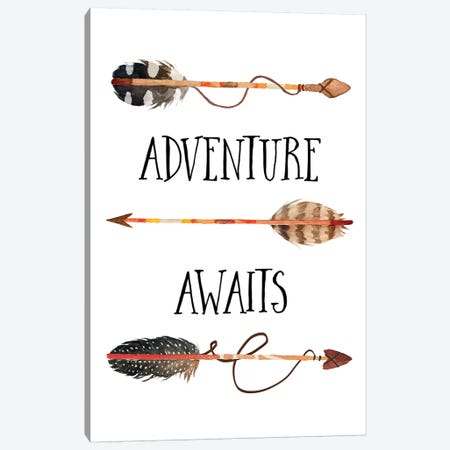 Adventure Awaits II Canvas Print #EPT5} by Eden Printables Canvas Art Print