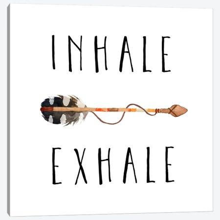 Inhale Exhale Canvas Print #EPT67} by Eden Printables Canvas Print