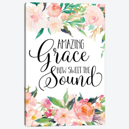 Amazing Grace How Sweet The Sound Canvas Print #EPT6} by Eden Printables Canvas Print