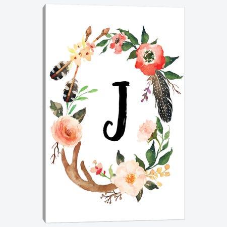 J (Initial) Canvas Print #EPT72} by Eden Printables Art Print