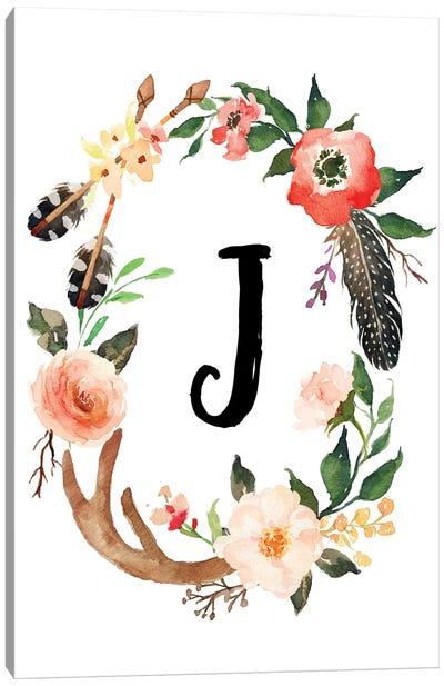 J (Initial) Canvas Art Print
