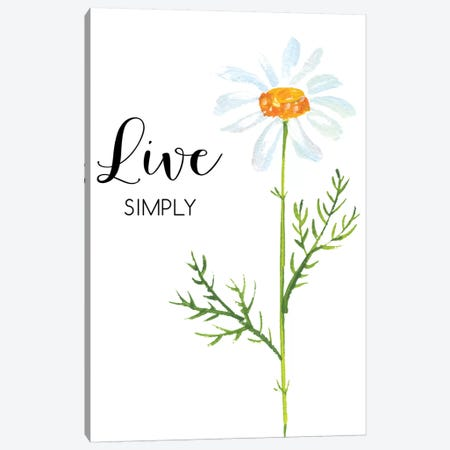 Live Simply Canvas Print #EPT79} by Eden Printables Canvas Art Print