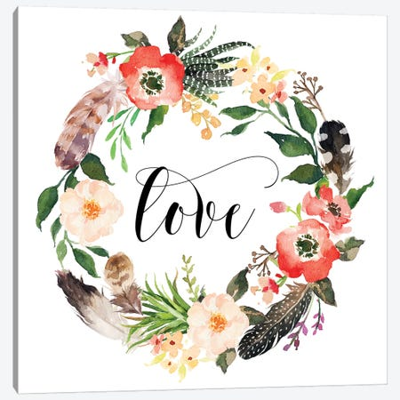 Love II Canvas Print #EPT83} by Eden Printables Canvas Artwork
