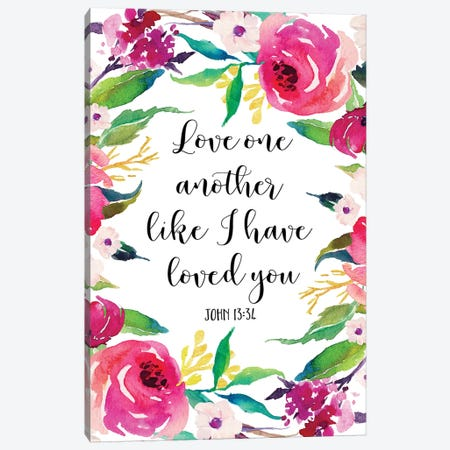 Love One Another Like I Have Loved You, John 1334 3-Piece Canvas #EPT88} by Eden Printables Canvas Wall Art