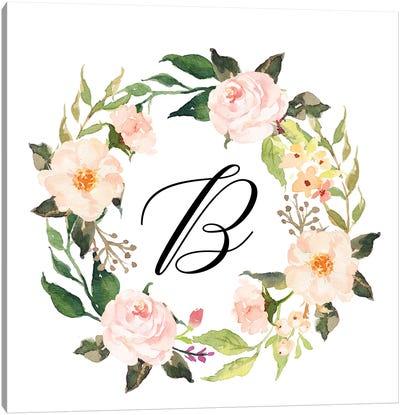 B (Initial) Canvas Art Print