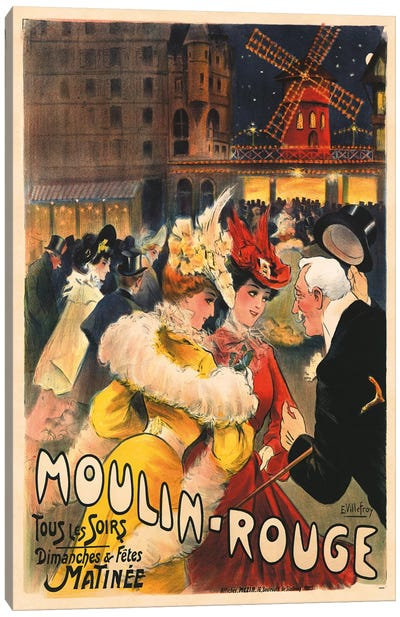 Le Moulin Rouge Advertisement, 1900 Canvas Art Print