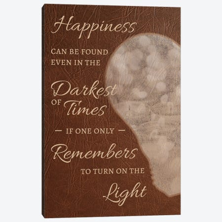 Happiness Can Be Found Canvas Print #EQU2} by 5by5collective Canvas Artwork