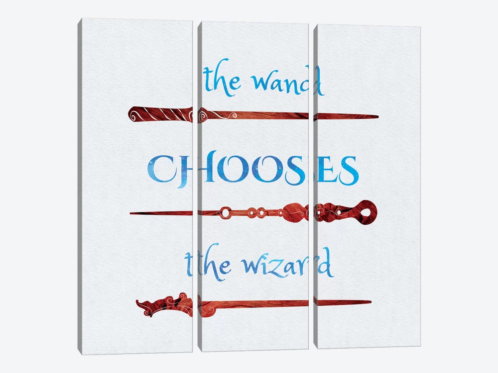 The Wand Chooses by 5by5collective 3-piece Canvas Wall Art