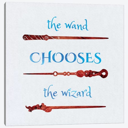 The Wand Chooses Canvas Print #EQU6} by 5by5collective Art Print