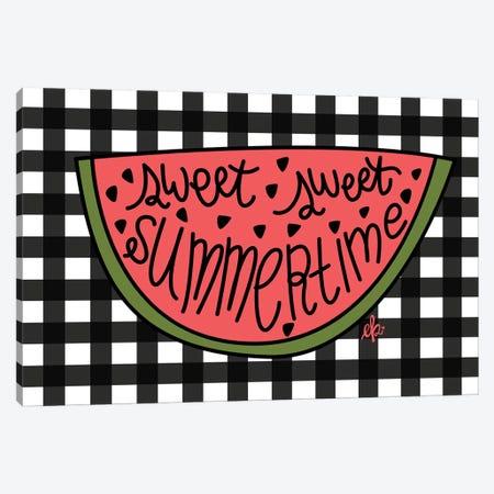 Sweet Summertime Watermelon Canvas Print #ERB101} by Erin Barrett Canvas Art