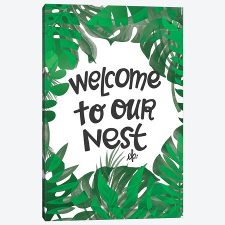 Welcome to Our Nest Canvas Print #ERB106} by Erin Barrett Canvas Print