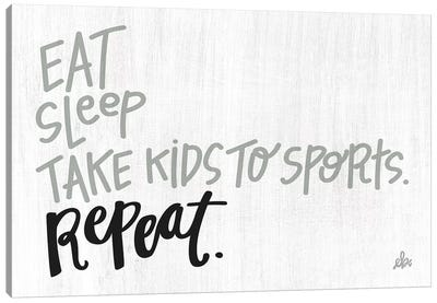 Eat Sleep Sports Repeat Canvas Art Print